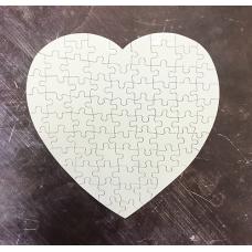 Пазл сердце картонный