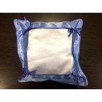 Подушка голубая 30х30 с печатным полем