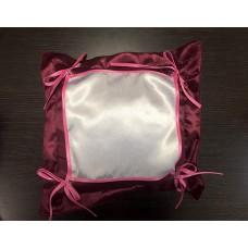 Подушка малиновая 30х30 с печатным полем